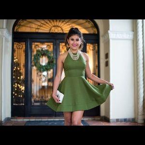 Luxxel green mini dress